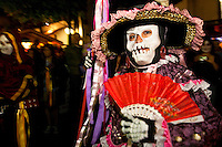 Day of the Dead Procession at Olvera Street, Los Angeles, California