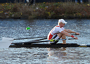 """..Description; fore ground  Kjetil BORCH approach's Eliot Bridge, during the Championships singles at the  2012 Head of the Charles"""". Boston,  USA..16:34:20  Saturday  20/10/2012. .[Mandatory Credit: Peter Spurrier/Intersport Images]"""