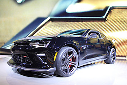 11 February 2016: Chevrolet Camaro SS.<br /> <br /> First staged in 1901, the Chicago Auto Show is the largest auto show in North America and has been held more times than any other auto exposition on the continent.  It has been  presented by the Chicago Automobile Trade Association (CATA) since 1935.  It is held at McCormick Place, Chicago Illinois<br /> #CAS16