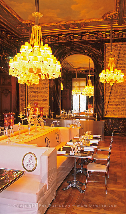 The Cristal Room restaurant, baccarat museum, paris