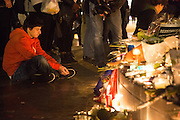 TRIBUTE TO RESTAURANTS ' CAMBODIA ' AND ' THE CARILLON RESTAURANTS ' CAMBODIA ' AND ' THE CARILLON ' - 24H AFTER ATTACKS OF PARIS 129 DEAD AND OVER 350 injured.<br /> ©Exclusivepix Media