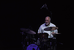 July 21, 2019 - Rome, Italy, Italy - The Trio composed by Peter Erskine on the drums, Eddie Gomez on the double bass and Dado Moroni on the piano, performed on 21/7/2019 on the stage of the Casa del Jazz in Rome during the Summertime 2019 festival. Peter Erskine (Credit Image: © Leo Claudio De Petris/Pacific Press via ZUMA Wire)