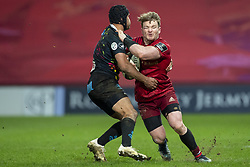March 23, 2019 - Limerick, Ireland - Chris Cloete of Munster and Gabriele Di Giulio of Zebre in action during the Guinness PRO14 match between Munster Rugby and Zebre at Thomond Park Stadium in Limerick, Ireland on March 23, 2019  (Credit Image: © Andrew Surma/NurPhoto via ZUMA Press)