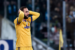 December 1, 2017 - Naples, Italy - Gonzalo Higuan of Juventus looks dejected during the Serie A match between Napoli and Juventus at San Paolo Stadium, Naples, Italy on 1 December 2017. (Credit Image: © Giuseppe Maffia/NurPhoto via ZUMA Press)