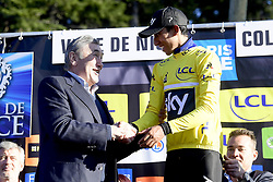 March 16, 2019 - Col De Turini, France - MERCKX Eddy and BERNAL GOMEZ Egan Arley (COL) of TEAM SKY pictured with the yellow jersey during stage 7 of the 2019 Paris - Nice cycling race with start in Nice and finish in Col de Turini  on March 16, 2019 in Col De Turini, France, (Credit Image: © Panoramic via ZUMA Press)