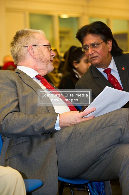 Pictured: Mike Russell and Shami Khan ELREC Vice Chair<br /> <br /> SNP Brexit minister Mike Russell spoke at an Edinburgh and Lothians Regional Equality Council event which aimed to facilitate discussion between service providers in the public and third sectors, and asylum seekers and refugees in order to hear about the circumstances and needs.<br /> <br /> Ger Harley   EEm 6 December 2016