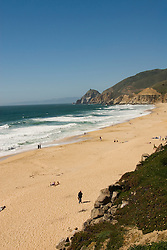 Montara Beach,.San Mateo Coast of California, south of San Francisco.  Photo copyright Lee Foster, 510-549-2202, lee@fostertravel.com, www.fostertravel.com. Photo 416-31186