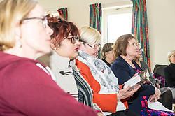 Pictured: Maureen Watt<br /> Today Mental Health Minister Maureen Watt vsiisted the Royal Hospital in Edinburgh to help aunch the online resource aimed at young people in this Eating Disorders Awareness Week, While thee she met two two Beat ambassadors, Constance Barter and Ballari Conner<br /> <br /> Ger Harley   EEm 28 Fbruary 2018