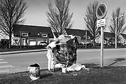 On the outskirts of Dunkirk in Northern France, opposite a relatively new housing estate,  sits the isolated and solitary remains of France's 'forgotten migrant camp' Grande-Synthe.<br /> April 2016