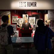 An animatronic LBJ exhibit uses recordings of some of his jokes to demonstrate his sense of humor. The LBJ Library and Museum (LBJ Presidnetial Library) is one of the 13 presidential libraries administered by the National Archives and Records Administration. It houses historical documents from Lyndon Johnson's presidency and political life as well as a museum.