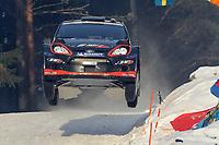 MOTORSPORT - WORLD RALLY CHAMPIONSHIP 2012 - RALLY SWEDEN / RALLYE DE SUEDE - 08 TO 12/02/2012 - KARLSTAD (SWE) - PHOTO : FRANCOIS BAUDIN /  DPPI - 10SOLBERG Henning - MINOR Ilka / FORD FIESTA - WRC / Action
