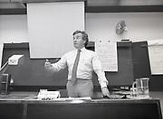Feargal Quinn addresses I.M.I. students, Dublin,<br /> 16th May 1984
