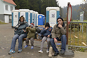 Nov. 11, 2015 - Wegscheid, Bavaria, Germany - GERMANY, Bavaria, Wegscheid; A family of Syrian asylum seekers, from a village in the hills close to Damascus, waiting here to cross from Austria into Germany at the tiny southern border village of Wegscheid.  The German authorities allow in 50 migrants per hour and escort them on buses to processing centres in Wegscheid and Passau before further distribution throughout the country.<br /> ©Exclusivepix Media