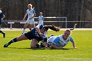 April 7, 2021 - Stockton University vs. Kean University Women's Soccer in NJAC Tournament at G. Larry James Stadium, Stockton University in Galloway Township, New Jersey. Stockton Ospreys won the game 3-0. Player Feature: Jessica Heitmann
