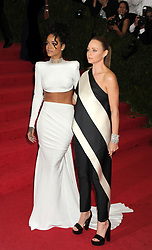 Rihanna and Stella McCartney arriving at the Met Gala event at the Metropolitan Museum of Art in New York, USA.