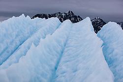 Glacier ice in Spitsbergen, Svalbard