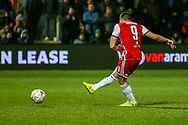 Goal 2-2 Brentford forward Neal Maupay (9) scores from the penalty spot during the The FA Cup fourth round match between Barnet and Brentford at The Hive Stadium, London, England on 28 January 2019.