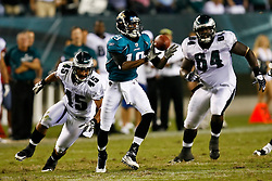 Jacksonville Jaguars running back Maurice Jones-Drew #32 catches a lateral during the last play of the NFL game between the Jacksonville Jaguars and the Philadelphia Eagles on August 27th 2009. The Eagles won 33-32 at Lincoln Financial Field in Philadelphia, Pennsylvania.  (Photo By Brian Garfinkel)