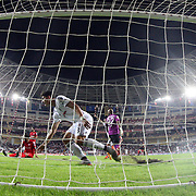 Besiktas's Mario Gomez during their Turkish Super League soccer match Antalyaspor between Besiktas at the Antalya stadium in Antalya Turkey on Monday 26 October 2015. Photo by Kurtulus YILMAZ/TURKPIX
