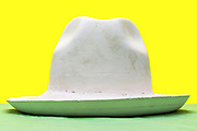 plaster mold of a fedora hat