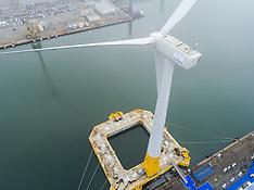 Aerial Photo of the Floating wind turbine FloatgenID1 - 14 Oct 2017