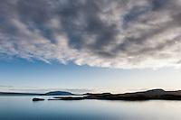 Looking over Hestvík and Klumba by Lake Þingvallavatn. Mount Miðfell in background. South Iceland. Horft yfir Hestvík og Klumbu við Þingavallavatn. Miðfell í baksýn.
