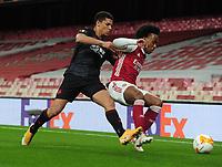 Football - 2020 /2021 UEFA Europa League - Quarter-Final - Arsenal vs Slavia Prague - Emirates Stadium<br /> <br /> Willian of Arsenal and David Zima of Slavia Prague<br /> <br /> Credit : COLORSPORT/ANDREW COWIE