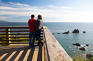 Hiking the Tillamook Head trail from Seaside to Cannon Beach,  Oregon