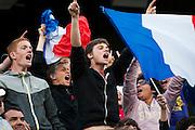 Roland Garros. Paris, France. 26 Mai 2010..Le joueur francais Gael MONFILS contre Fabio FOGNINI..Roland Garros. Paris, France. May 26th 2010..French player Gael MONFILS against Fabio FOGNINI.