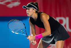 October 10, 2018 - Garbine Muguruza of Spain in action during her second-round match at the 2018 Prudential Hong Kong Tennis Open WTA International tennis tournament (Credit Image: © AFP7 via ZUMA Wire)