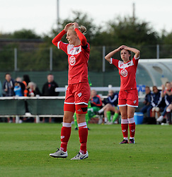 Bristol Academy captain Sophie Ingle's attempt is denied - Mandatory by-line: Paul Knight/JMP - 25/07/2015 - SPORT - FOOTBALL - Bristol, England - Stoke Gifford Stadium - Bristol Academy Women v Sunderland AFC Ladies - FA Women's Super League