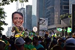 May 26, 2019: Sao Paulo, Brazil - A rally in support of President Bolsonaro, on Av. Paulista. (Credit Image: © Roberto Casimiro/Fotoarena via ZUMA Press)