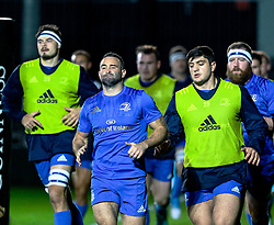 Dave Kearney of Leinster during the pre match warm up<br /> <br /> Photographer Simon King/Replay Images<br /> <br /> Guinness PRO14 Round 10 - Dragons v Leinster - Saturday 1st December 2018 - Rodney Parade - Newport<br /> <br /> World Copyright © Replay Images . All rights reserved. info@replayimages.co.uk - http://replayimages.co.uk