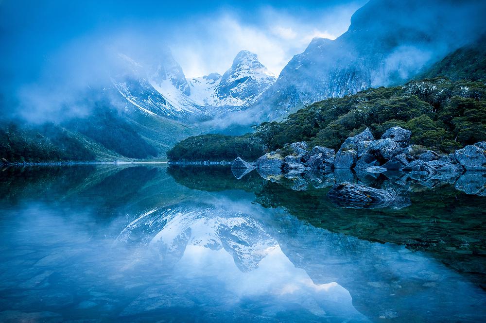 Lake Mackenzie, Fiordland National Park, Southland.