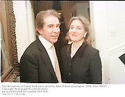 Earl & Countess of Tunis. Book party given by Baba Hobart. Kensington. 1998. Film 9880f7<br />Copyright Photograph by Dafydd Jones<br />66 Stockwell Park Rd. London SW9 0DA<br />Tel. 0171 733 0108