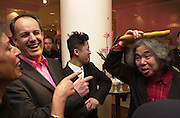 Vittorio Radice, chief executive of Selfridges meets Tatsumi Orimoto. Celebration of Tokyo Life . Selfridges. London. 30 April 2001. © Copyright Photograph by Dafydd Jones 66 Stockwell Park Rd. London SW9 0DA Tel 020 7733 0108 www.dafjones.com