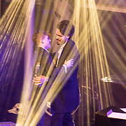 NLD/Amsterdam/20171106 - MTV Pre party 2017, Kay Nambiar feliciteerd Lil Kleine