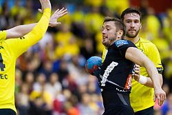 during handball match between RK Gorenje Velenje (SLO) and Team Tvis Holstebro (DEN) in 3rd Qualification round of EHF European Cup 2015/16, on November 22, 2014, Rdeca dvorana, Velenje, Slovenia. Photo by Urban Urbanc / Sportida
