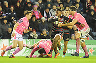 Winning try scorer Junior Rasolea on the ball during the European Rugby Challenge Cup match between Edinburgh Rugby and Stade Francais at Murrayfield Stadium, Edinburgh, Scotland on 12 January 2018. Photo by Kevin Murray.