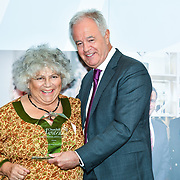 Martin Young Present  Winner of  Stage & Screen – Miriam Margolyes the 7th annual Churchill Awards honour achievements of the Over 65's at Claridge's Hotel on 10 March 2019, London, UK.