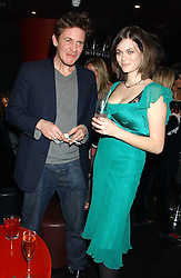 JASMINE GUINNESS and JAKE GAVIN at a preview of Lulu Guinness's new Handbag Collection ' Couture' held at Aviva, Baglioni Hotel, 60 Hyde Park Gate, London SW7 on 15th February 2006.<br /><br />NON EXCLUSIVE - WORLD RIGHTS