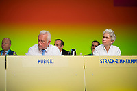 DEU, Deutschland, Germany, Berlin,12.05.2018: FDP-Parteivize Wolfgang Kubicki und FDP-Parteivize Dr. Marie-Agnes Strack-Zimmermann beim 69. Bundesparteitag der Freien Demokratischen Partei (FDP) in der Station.