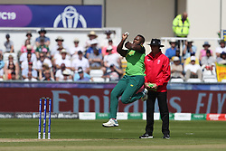 June 28, 2019 - Chester Le Street, County Durham, United Kingdom - Kagiso Rabada of South Africa bowling during the ICC Cricket World Cup 2019 match between Sri Lanka and South Africa at Emirates Riverside, Chester le Street on Friday 28th June 2019. (Credit Image: © Mi News/NurPhoto via ZUMA Press)