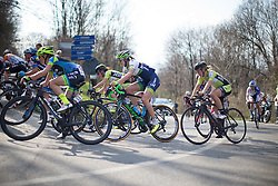 Loren Rowney (Orica-Greenedge Cycling Team) rides in the main pack in the first, short lap of Trofeo Alfredo Binda - a 123.3km road race from Gavirate to Cittiglio on March 20, 2016 in Varese, Italy.