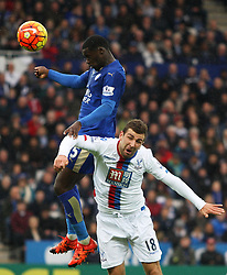 Jeffrey Schlupp of Leicester City (L) and James McArthur of Crystal Palace in action  - Mandatory byline: Jack Phillips/JMP - 07966386802 - 24/10/2015 - SPORT - FOOTBALL - Leicester - King Power Stadium - Leicester City v Crystal Palace - Barclays Premier League