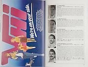 Irish Rugby Football Union, Ireland v New Zealand, Friendly, Landsdowne Road, Dublin, Ireland, Saturday 18th November 1989,.18.11.1989, 11.18.1989,..Referee- A R MacNeill, A R U,..Score- Ireland 6 - 23 New Zealand,..Irish Team, ..P I Rainey,  Wearing number 15 Irish jersey, Full Back, Ballymena Rugby Football Club, Northern Ireland,..K J Hooks, Wearing number 14 Irish jersey, Right Wing, Ards Rugby Football Club, Ireland,..B J Mullin, Wearing number 13 Irish jersey, Right Centre, London Irish Rugby Football Club, London, England,  ..D G Irwin, Wearing number 12 Irish jersey, Left Centre, Instonians Rugby Football Club, Belfast, Northern Ireland, ..K D Crossan, Wearing number 11 Irish jersey, Left Wing, Instonians Rugby Football Club,  Ireland,..B A Smith, Wearing number 10 Irish jersey, Out Half, Oxford Rugby Football Club, England,..F P Aherne, Wearing number 9 Irish jersey, Scrum Half, Lansdowne Rugby Football Club, Dublin, Ireland,..N P Mannion, Wearing number 8 Irish jersey, Forward, Corinthians Rugby Football Club, Gaway, Ireland,..P T J O'Hara , Wearing number 7 Irish jersey, Forward, Sundays Well Rugby Football Club, Cork, Ireland, ..P M Mathews, Wearing number 6 Irish jersey, Forward, Wanderers Rugby Football Club, Dublin, Ireland,..W A Anderson, Wearing number 5 Irish jersey, Captain of the Irish team, Forward, Dungannon Rugby Football Club, Tyrone, Northern Ireland, ..D G Lenihan, Wearing number 4 Irish jersey, Forward, Cork Constitution Rugby Football Club, Cork, Ireland,..J J Mcoy, Wearing number 3 Irish jersey, Forward, Bangor Rugby Football Club, Down, Northern Ireland,..S J Smith, Wearing number 2 Irish jersey, Forward, Ballymena Rugby Football Club, Antrim, Northern Ireland, ..N J Popplewell, Wearing number 1 Irish jersey, Forward, Greystones Rugby Football Club, Dublin, Ireland,..New Zealand Team, ..J A Gallagher, Wearing number 15 New Zealand jersey, Full Back, Wellington Rugby Football Club, New Zealand,..C R Innes, Wearing number 14 New Zealand j