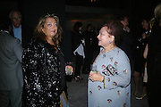 Zaha Hadid and Lady Paul, Dinner given by Established and Sons to celebrate Elevating Design.  P3 Space. University of Westminster, 35 Marylebone Rd. London NW1. -DO NOT ARCHIVE-© Copyright Photograph by Dafydd Jones. 248 Clapham Rd. London SW9 0PZ. Tel 0207 820 0771. www.dafjones.com.