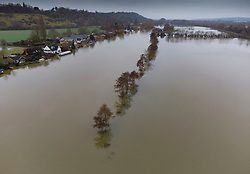 © Licensed to London News Pictures. 04/02/2021. Little Marlow, UK. The River Thames has burst it's banks near Little Marlow in Buckinghamshire. Large parts of the UK have experienced more wet conditions bringing further flooding . Photo credit: Peter Macdiarmid/LNP