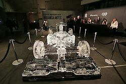 An show car made of ice on display at an Inter / Sahara Force India F1 Team event.<br /> 26.10.2016. Formula 1 World Championship, Rd 19, Mexican Grand Prix, Mexico City, Mexico, Preparation Day.<br /> Copyright: Moy / XPB Images / action press