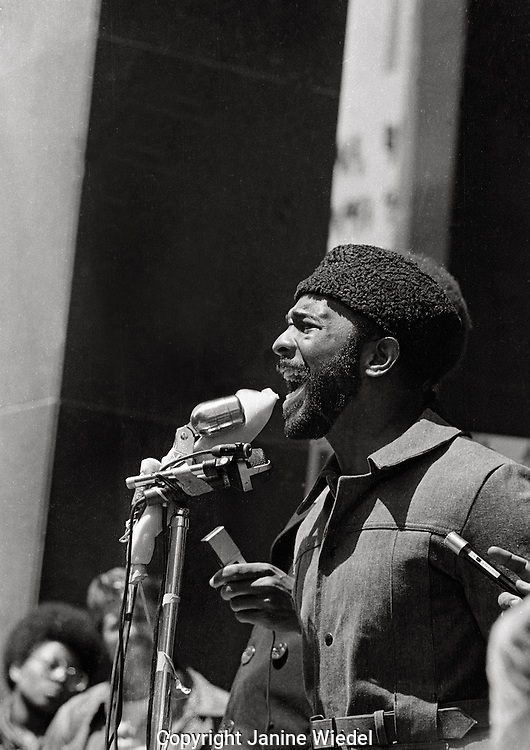 Black Panther / Power Rally to Free Huey Newton in San Francisco California in May 1969